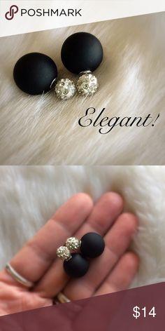 NEW! Elegant Double-Sided Crystal Ball Earrings NEW! Jewelry Earrings
