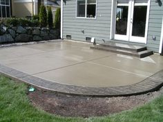 Concrete patio ideas cement patio designs what designs do you recommend for patios dream porch patio Cement Design, Concrete Patio Designs, Cement Patio, Backyard Patio Designs, Colored Concrete Patio, Stamped Concrete Patios, Concrete Backyard, Sloped Backyard, Small Backyard Patio