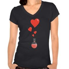 Love! Black Flask Of Hearts Valentine's Day Geek T-shirts by borianag $34.45 #geek #shirt #clothing