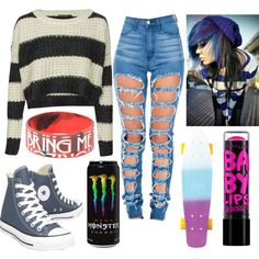 Untitled #115 by jordynchaput on Polyvore featuring polyvore, fashion, style, QED London, Converse, Roxy and Maybelline