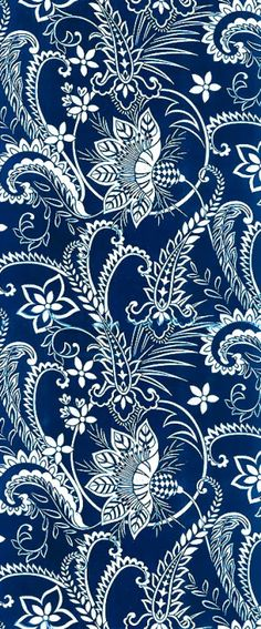 Blue and white paisley background pattern. Motifs Textiles, Textile Prints, Textile Patterns, Lino Prints, Block Prints, Batik Pattern, Paisley Pattern, Pattern Art, Paisley Design