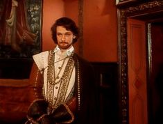 """filming the series """"The Countess de Monsoreau,"""" the image of the hero of the Comte de Bussy (played by actor A. Domogarov)"""