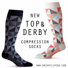 e0395c371a New to BrightLife Go - Top and Derby compression socks! Great for traveling  & everyday
