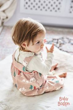 Have fun with your little one in our adorable overalls. They're lined with soft cotton jersey to keep your baby feeling cozy and warm from playtime to naptime. And the easy snap details and adjustable straps make emergency changes as easy as 1-2-3.