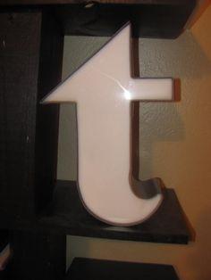 I've always wanted a vintage letter T for our bedroom.