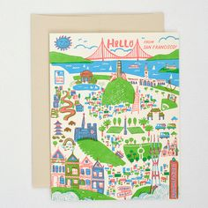 www.hellolucky.com. Hello from San Francisco. This would be cute framed for Lucas's room!
