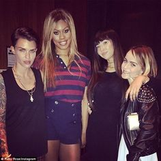 Jailbird outing! Ruby Rose took to her Instagram account on Wednesday photographs of her c...