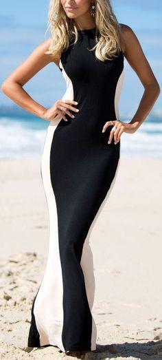 Glam Silhouette Maxi Dress //