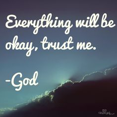 Trust in his plans, our god is a crazy, wonderful, jealous God, and be careful in what you do because your never alone.