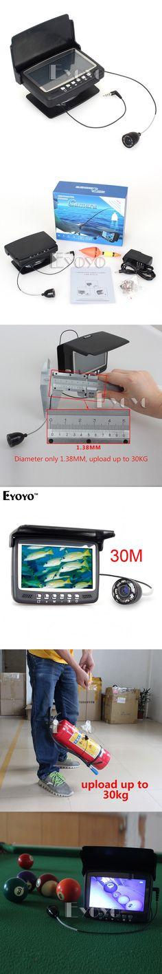 "Eyoyo Original 30M Underwater Ice Video 1000TVL Fishing Camera Fish Finder 4.3"" LCD Monitor 8 LED Night Vision Camera Sunvisor"