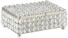 Cristalis Rectangular Crystal 8-Inch-W Jewelry Box - #EU2W596 - Euro Style Lighting
