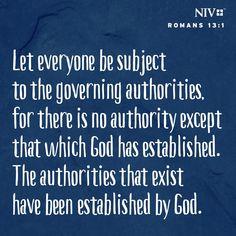 NIV Verse of the Day: Romans 13:1