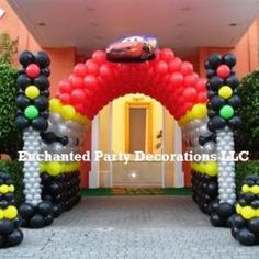 cars balloon pillar | Cars Balloon Entrance