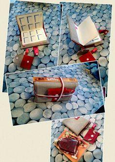 Geschenk Notizbuchhülle / Kalenderbuchhülle mit Minitäschchen