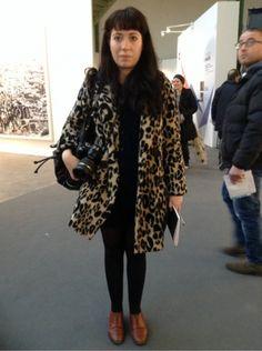 #H&M #Office #Fur #Leopard #Vintage #Woman