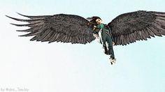 """@Panda8ngel: ""@aka_TeeJay: Nothing says 'badass' quite like Noma with wings! #Dominion @kimengelbrecht "" NomaLove!"""