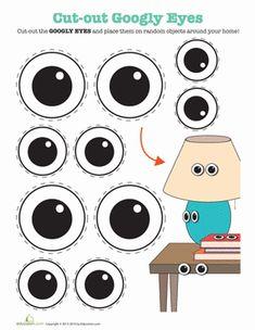 Third Grade Arts & Crafts Worksheets: Printable Googly Eyes