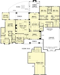 The Birchwood House Plans First Floor Plan - House Plans by Designs Direct. by mpfromms123