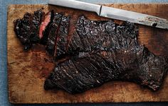 Spicy Tamarind Skirt Steak   3 Thai or serrano chiles, with seeds, thinly sliced into rounds ¼ cup tamarind concentrate 3 tablespoons light brown sugar 1 tablespoon kosh...