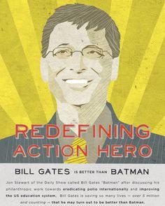 Bill Gates is the new Batman.