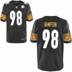 Men Nike Pittsburgh Steelers #98 Casey Hampton Black Elite NFL Jersey Sale