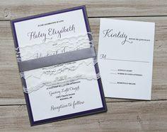 Elegant Wedding Invitation Lace Wedding by LoveofCreating on Etsy