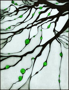 rusty_on_flickr: Evra Tree Stained Glass, The sketch based on the picture taken by Vera Evstafieva