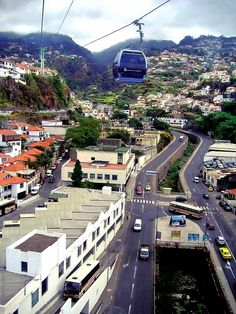 Cable Car to Monte - Funchal, Madeira, Portugal. We rode on this to the top of the mountain.