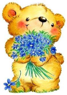 Cute Teddy Bear Pics, Teddy Bear Pictures, My Teddy Bear, Cute Bears, Bear Clipart, 2 Clipart, Cute Clipart, Tatty Teddy, Cute Images