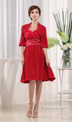 http://www.ikmdresses.com/A-Line-Hourglass-Half-Elbow-Length-Sweetheart-Mother-of-the-Bride-Dress-p19929