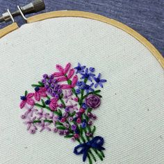 I'm stitching all.the.flowers this week! Today I'm all about purple!  . #embroidered #embroidery #needlework #purple #purplelove #bouquet #wildflowers #wildflowerlove #bridalbouquet #flowers #flowersofinstagram #flowerstagram #floral #floraldecor #florals #flowersfordays #flowerporn #fleur #handmadeisbetter #craftsposure #makersmovement #abmlifeiscolorful #dsfloral #embroideryinstaguild #violet #handmadecurator icatch_purple # # #