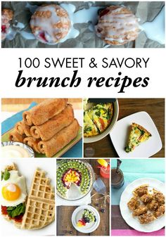 Your friends will love at least one of these 100 Sweet & Savory Brunch Recipes the next time you host brunch! The list of delectables includes muffins, quiche, casseroles, and much more.