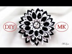 Многослойный цветок Канзаши / Вариант сборки, МК / DIY Layered Kanzashi Flower - YouTube