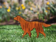"Dog Garden Stake by Outdoor Decor. $19.99. Great for yourself or as a gift. Made of metal. 21.25"" x 0.25"" x 17.75"". Add this rustically designed dog garden stakes to your outdoor space for a unique piece of décor. Made of durable metal, this garden stake will reveal your passion for dogs to passersby as well as add a charming accent piece to any outdoor space.. Save 33% Off!"