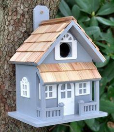 NEW - Little Cabin Birdhouse - Blue
