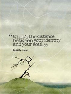 What's the distance between your identity and your soul.-Panache Desai~Quotes ByTT