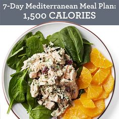 7-Day Mediterranean Meal Plan: 1,500 Calories - EatingWell