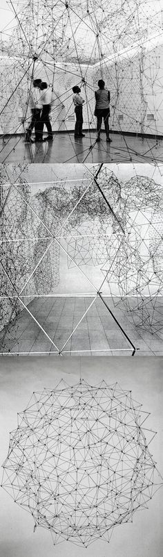 Gego (Gertrud Goldschmidt) - Reticulárea, 1969-1980s, aluminum and stainless steel wire
