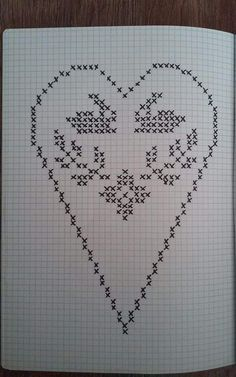 Filet Crochet Charts, Crochet Diagram, Crochet Motif, Crochet Doilies, Crochet Stitches, Crochet Patterns, Crochet Christmas Decorations, Fillet Crochet, Knitted Heart