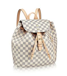 Oh My Bag ... New in at LouIs Vuitton Sperone Toile Damier Azur. Can't wait to stroll through the city and go to work with this stylish piece of bag design.