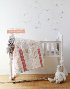 Littlest Fabric Collection by AGF Studio  Littlest Fabric Collection Lookbook. Come out to play in this lovable collection that inspires children & grown-ups alike. Sweet musings & darling bunnies capture child-like innocence with hues of mint, grey & peach.