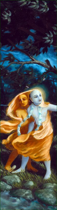 The Lord is very satisfied with His devotee when the devotee greets other people with tolerance, mercy,