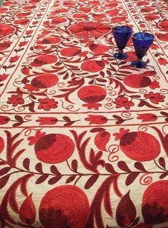 Julia Traditionnel Épais Luxe Table couvre nappe avec frange Round Square