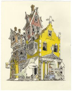 Brush works by Mattias Adolfsson, via Behance