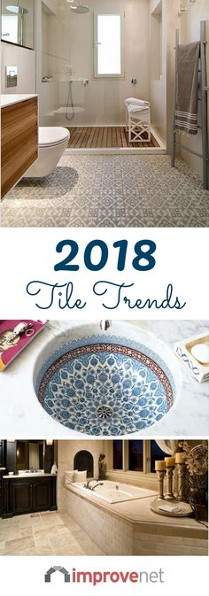 Tile can also make a home look dated. Things as simple as changing your backsplash or retiling your shower can make a big difference in updating a room. Whether it's bathroom tile trends or just the latest tile trends, we can help you find exactly what tile style you're looking for. So, if you're ready to replace old tile in your home or create a new look, here are the trends in tile for 2018.