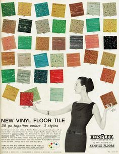 Vinyl floor tile. we could rule the world with this floor.