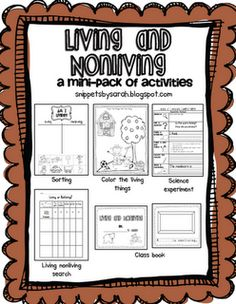 Living and Nonliving Packet...Freebie