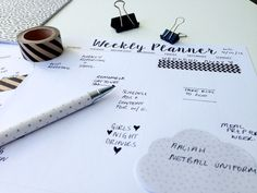 FREE Printable Weekly Planner Minimalist/Monochrome Style