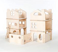 DIY Wood Modern Dollhouse // Spark Creativity by manzanitakids