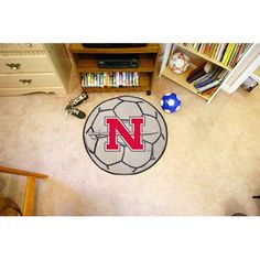 Nicholls State Colonels NCAA Soccer Ball Round Floor Mat (29)